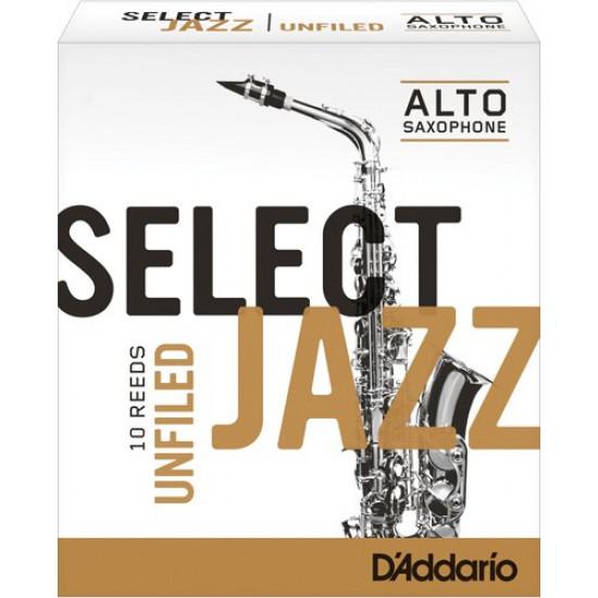 D'Addario Select Jazz Unfiled alto sax